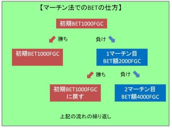 マーチン法でのBETの仕方